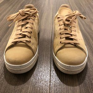 Adidas Stan Smith New Bold Shoes (6.5; nude/tan)